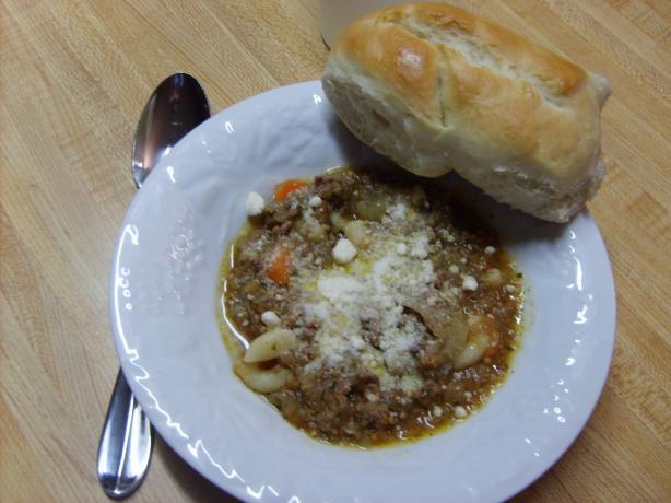 Macaroni Ratatouille Soup