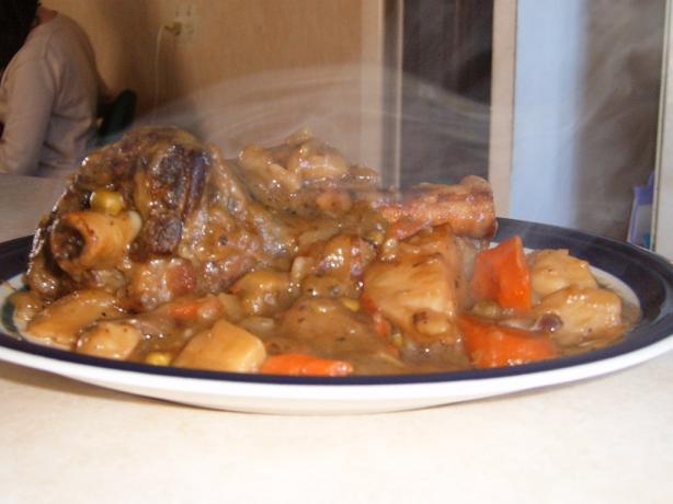 Nana's Mutton Shank Casserole