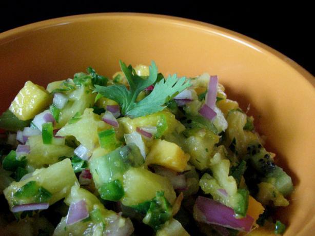 Pineapple Kiwi Mango Salsa