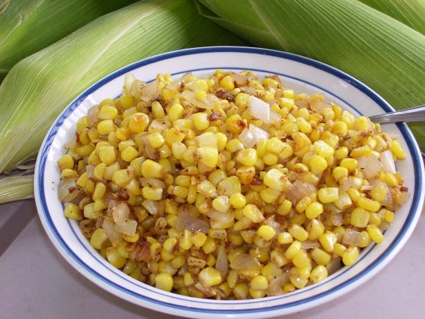 Fried Fresh Corn and Onion