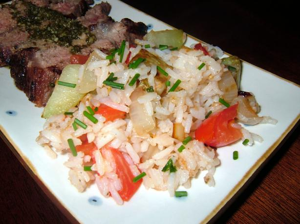 Rice With Chayote (Fritanga)