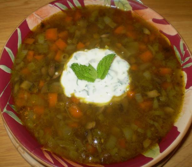 Lentil Soup With Minted Yogurt