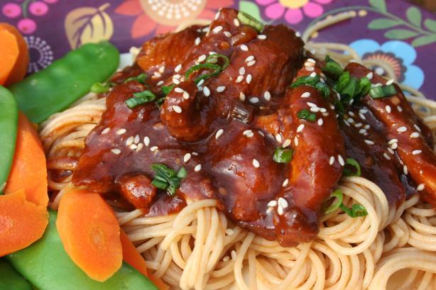 Crock Pot Oriental Turkey Pasta