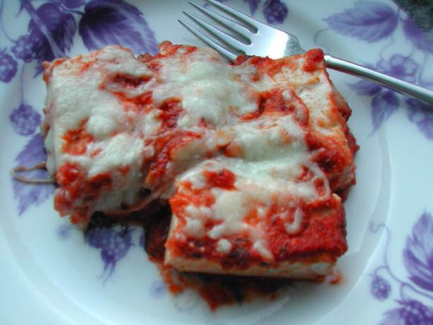 Cheesy Tofu Strips - Italian Style