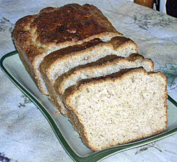Whipped up Nutmeg Banana Bread (Eggless)