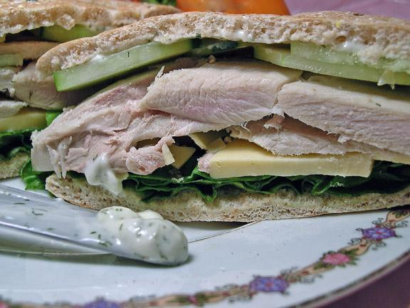 Turkey-Cucumber Dill Sandwiches