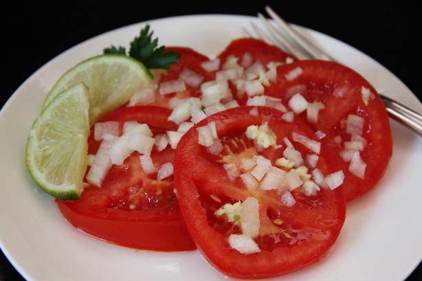 Tomato Salad -(Saladi Ya Nyanya)