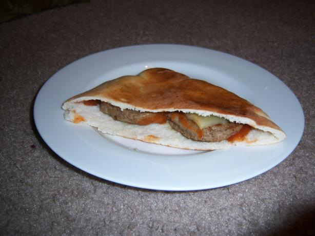Spicy Sausage Pita Pocket