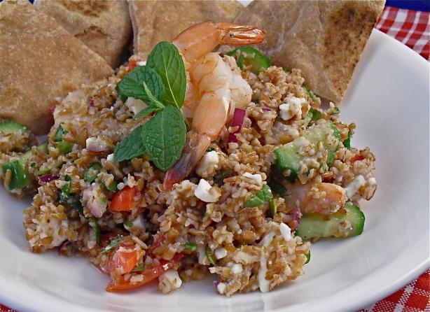 Shrimp & Feta Tabbouleh