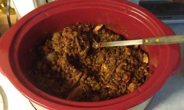 Crock-Pot Moroccan Chicken and Lentils