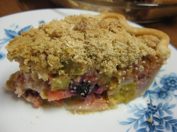 Sour Cream Rhuberry Pie