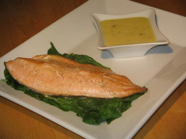 Ocean Trout/Salmon With Lime and Lemon Grass Hollandaise
