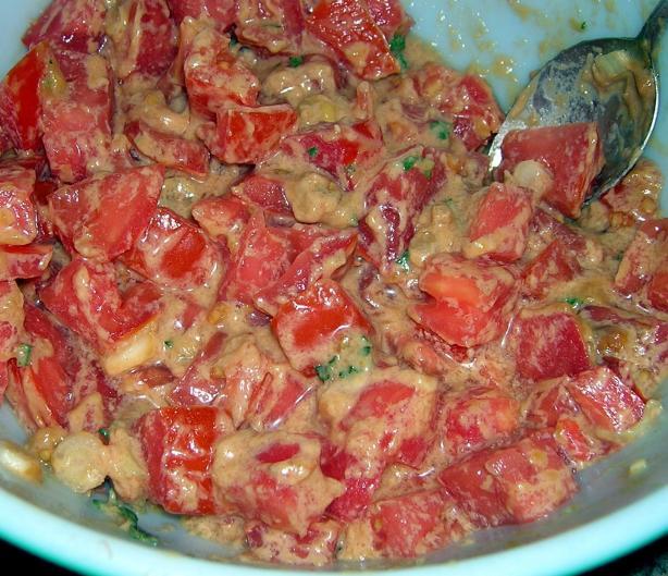 Sudanese Tomato Salad (Salata Tomatim Bel Daqua)