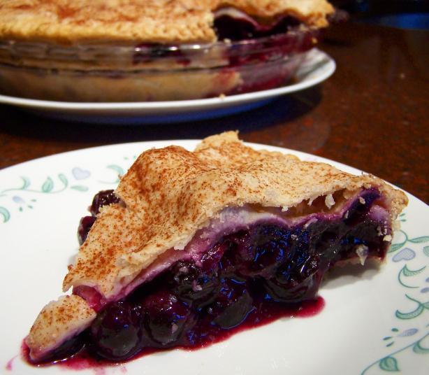 Deep Dish Blueberry Pie!