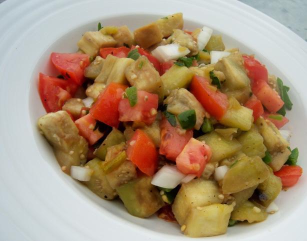Diced Eggplant (Aubergine) Salad