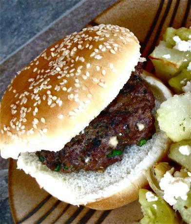 Greektalian Cheese Burgers