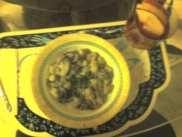 Herb Gnocchi W/ Mushroom Cream Sauce