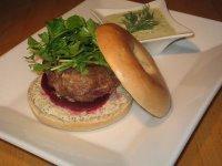 Spiced Lamb Burger With Tzatziki