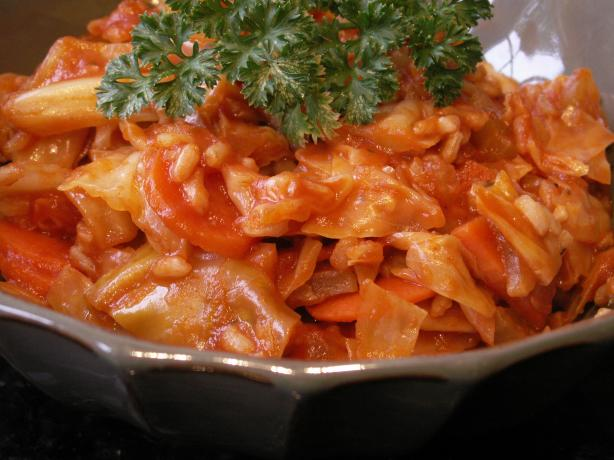 Vegan Unrolled Cabbage Rolls
