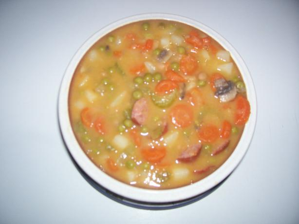 Quick Kielbasa-Bean Soup