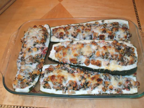 Over-Stuffed Zucchini