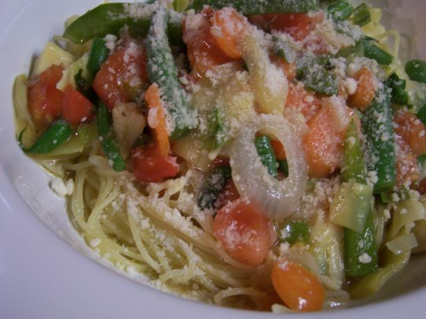 Angel Hair Pasta With Garden Vegetables