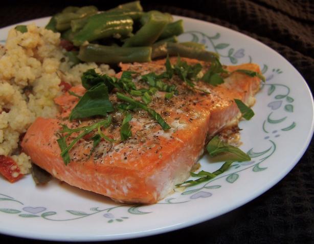 Salmon With Oregano