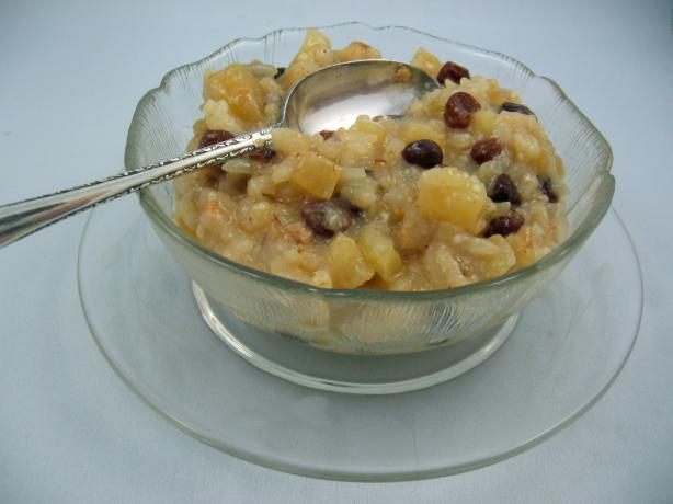 Apple Rice Pudding for a Rice Cooker