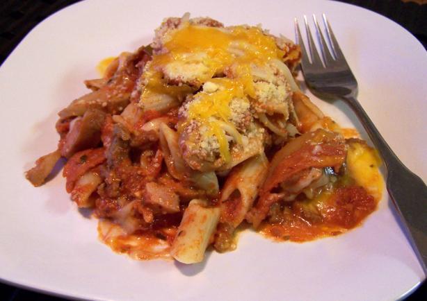 Meaty Pasta Casserole