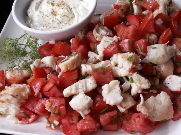 Fresh Tomato and Crab Salad