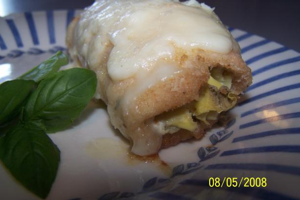 Easy and Light Artichoke Stuffed Chicken