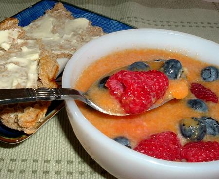 Easy Fruit Soup & Whole Wheat Scones