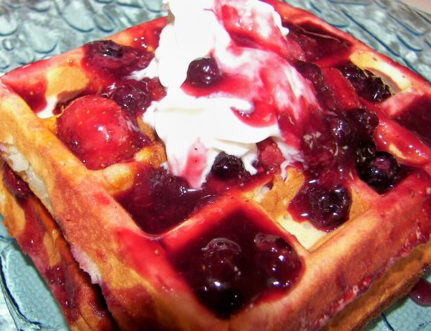Berry Birthday Waffles
