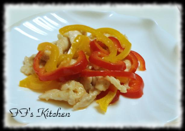 Lemony Chicken With Bell Pepper