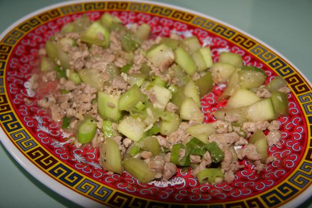 Stir-Fry Opo With Ground Pork