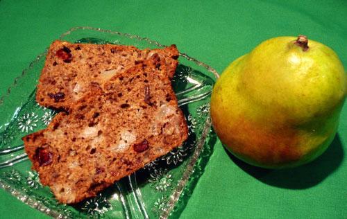 Pear Craisin Bread