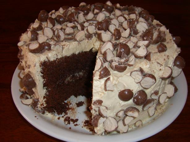 Triple Malted Chocolate Cake With Vanilla Malted Frosting