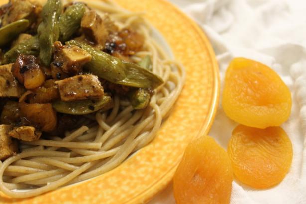 Sweet Apricot Chicken & Sugar Snap Peas