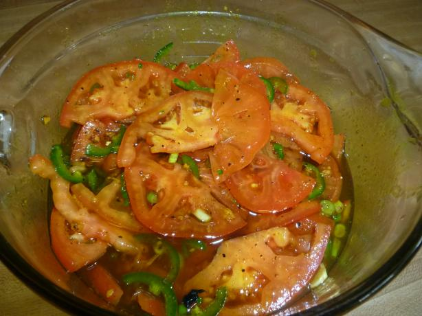 Pickled Tomatoes With Jalapenos