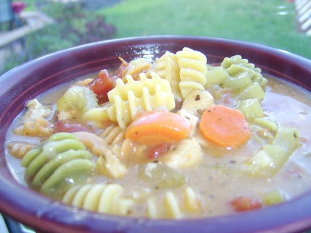 Curly Q Noodle Chicken Soup