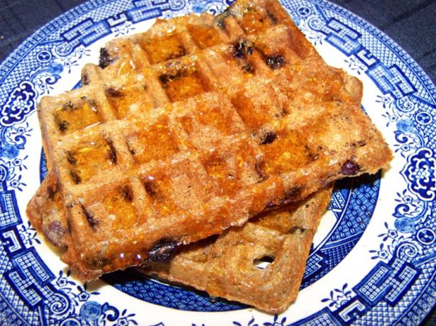 Blueberry Whole Grain and Bran Waffles
