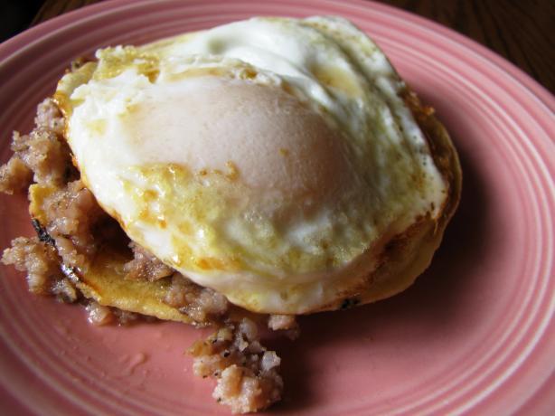 Open-Face, Meatless Breakfast Sandwich