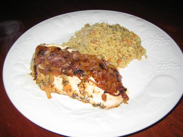 Roasted Garlic Chicken With Caramelized Onions
