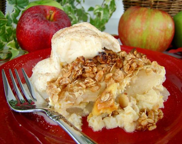 Low Fat Golden Apple Crisp Custard