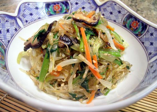 Korean Chap Chae (Vegetarian)