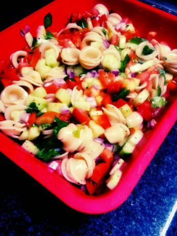 Cucumber Cilantro Pasta Salad