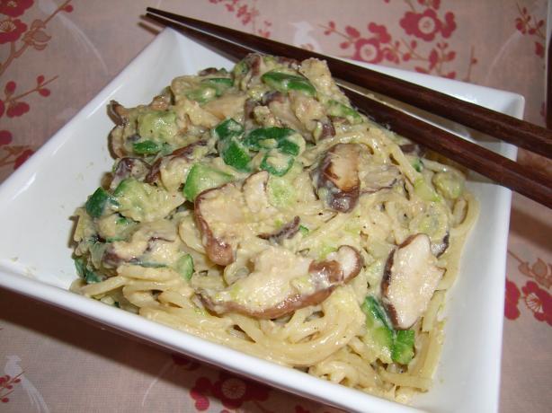 Ginger Shiitake Noodles