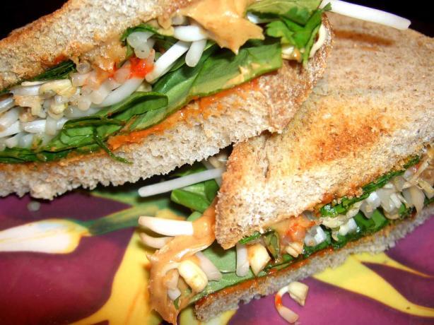 Veggie Peanut Butter Sandwich