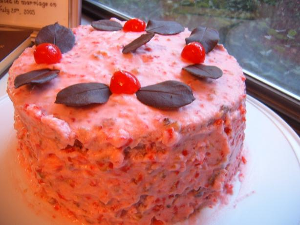 Pink Cherry Coconut Cake