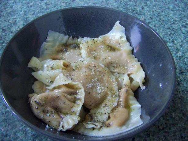 Pumpkin Ravioli in Brown Butter